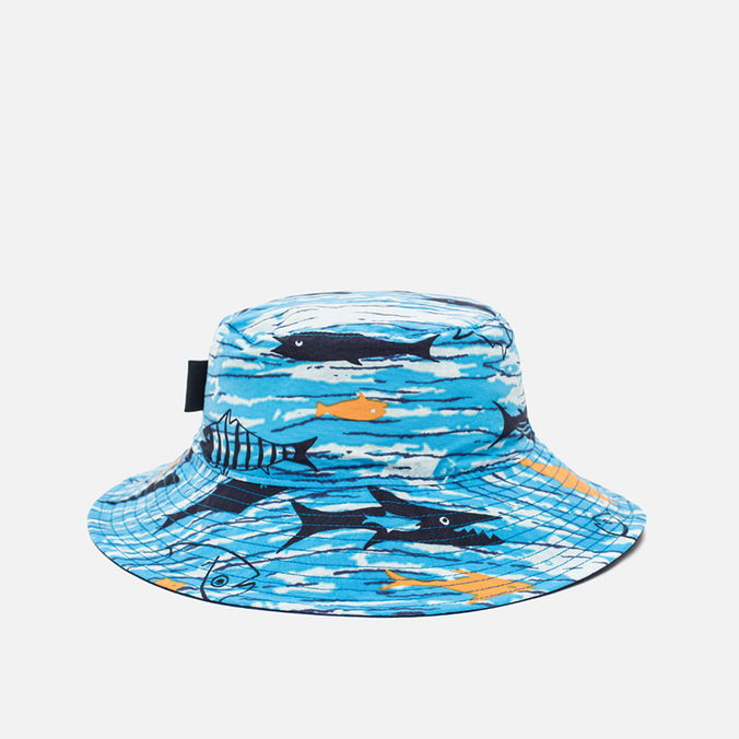 Детская панама Patagonia Sun Bucket Fishy Fun/Electron Blue