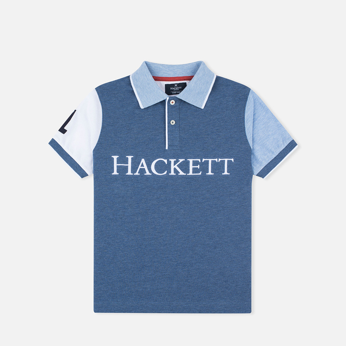 Детское поло Hackett Marl Multi Blue/Red