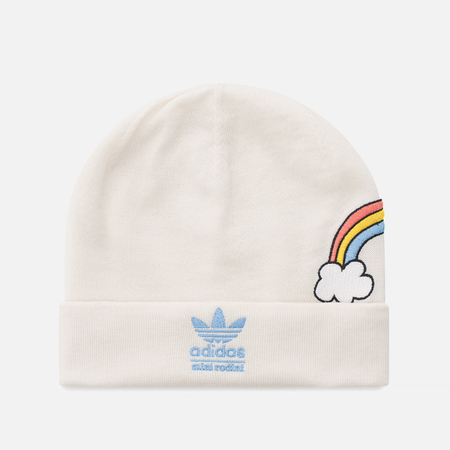 Детская шапка adidas Originals x Mini Rodini Beanie Off White/Bahia Light Blue