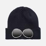 Детская шапка C.P. Company U16 Berretto Goggle Navy фото- 0