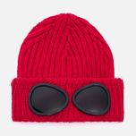 Детская шапка C.P. Company U16 Iconic Goggle Red фото- 0