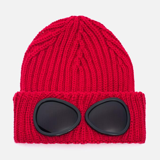 Детская шапка C.P. Company U16 Iconic Goggle Red