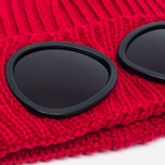 Детская шапка C.P. Company U16 Iconic Goggle Red фото- 1