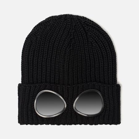 Детская шапка C.P. Company U16 Merino Wool Goggle Beanie Black