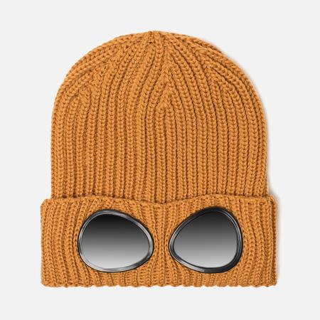 Детская шапка C.P. Company U16 Merino Wool Goggle Beanie Golden Yellow