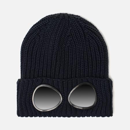 Детская шапка C.P. Company U16 Merino Wool Goggle Beanie Total Eclipse