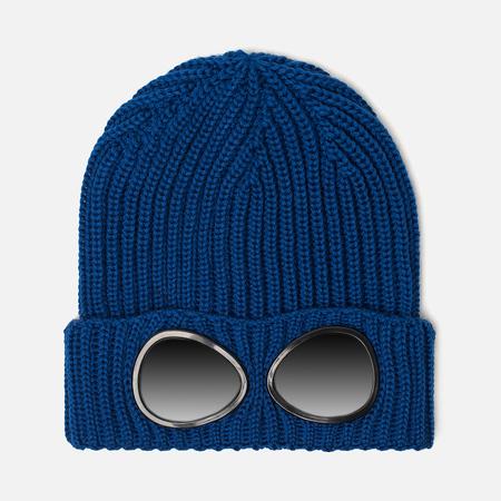 Детская шапка C.P. Company U16 Merino Wool Goggle Beanie True Blue