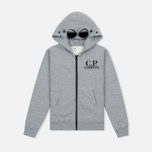 Детская толстовка C.P. Company U16 Cotton Fleece Hooded Zip Google Grey Melange фото- 0