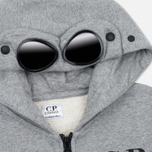 Детская толстовка C.P. Company U16 Cotton Fleece Hooded Zip Google Grey Melange фото- 1