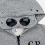 Детская толстовка C.P. Company U16 Cotton Fleece Hooded Zip Google Grey Melange фото- 2