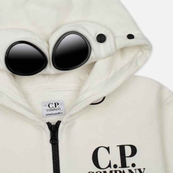 Детская толстовка C.P. Company U16 Cotton Fleece Hooded Zip Google White