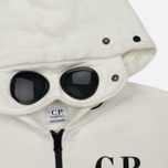 Детская толстовка C.P. Company U16 Cotton Fleece Hooded Zip Google White фото- 2