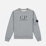 Детская толстовка C.P. Company U16 Cotton Fleece Lens Crew Neck Reflective Logo Grey Melange фото- 0