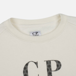 Детская толстовка C.P. Company U16 Cotton Fleece Lens Crew Neck Reflective Logo White фото- 1
