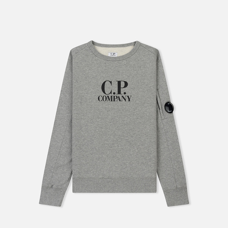 Детская толстовка C.P. Company U16 Cotton Fleece Lens Logo Crew Grey Melange