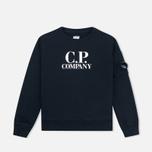 C.P. Company U16 Crew Neck Lens Children's Sweatshirt Blue photo- 0