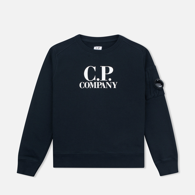 C.P. Company U16 Crew Neck Lens Children's Sweatshirt Blue