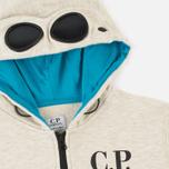 Детская толстовка C.P. Company U16 Felpa Aperta Goggles Melange Grey фото- 1