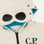 Детская толстовка C.P. Company U16 Felpa Aperta Goggles Melange Grey фото- 2