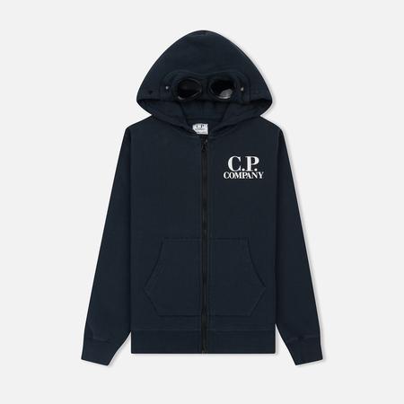 Детская толстовка C.P. Company U16 Fleece Goggle Zip Logo Total Eclipse