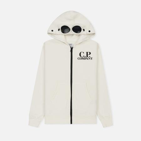 Детская толстовка C.P. Company U16 Fleece Goggle Zip Logo White