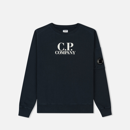 Детская толстовка C.P. Company U16 Fleece Lens Logo Crew Neck Total Eclipse