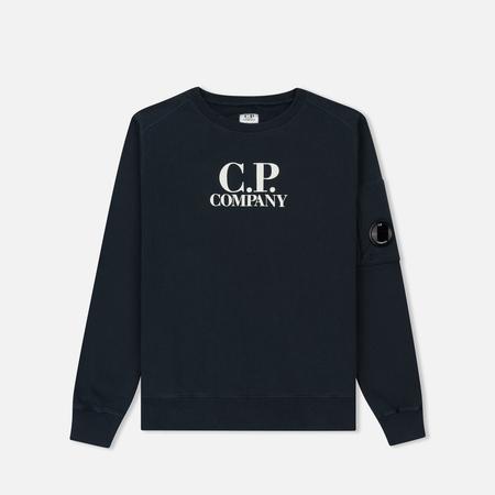 Детская толстовка C.P. Company U16 Fleece Lens Logo Crew Neck Total Eclipse
