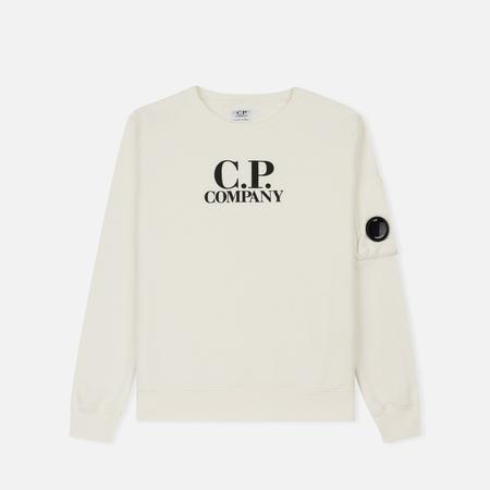 Детская толстовка C.P. Company U16 Fleece Lens Logo Crew Neck White