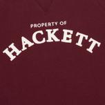 Детская толстовка Hackett Logo Crew Burgundy фото- 2