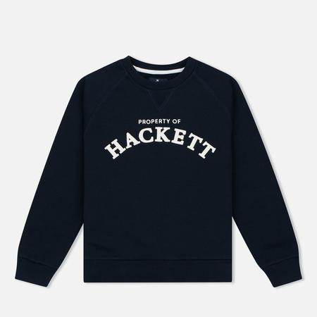 Детская толстовка Hackett Logo Crew Navy