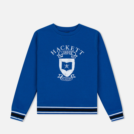 Детская толстовка Hackett Vintage Crew Neck Electric Blue