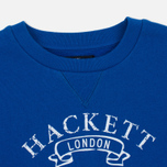 Детская толстовка Hackett Vintage Crew Neck Electric Blue фото- 1
