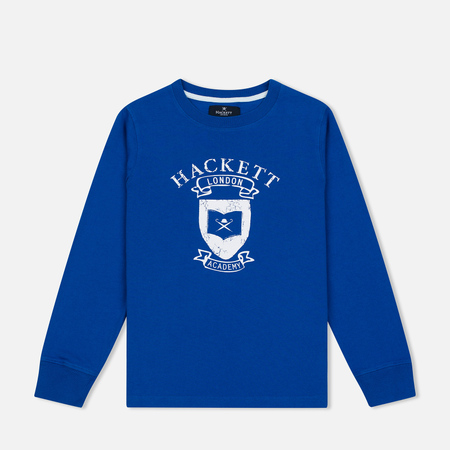 Детская толстовка Hackett Vintage Print Electric Blue