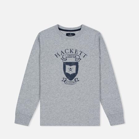 Детская толстовка Hackett Vintage Print Grey Marl