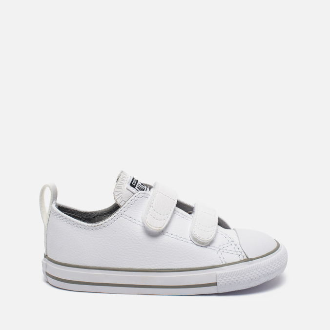 Детские кеды Converse Chuck Taylor All Star 2V Leather Toddler Low Top White