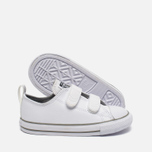 Детские кеды Converse Chuck Taylor All Star 2V Leather Toddler Low Top White фото- 1