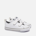 Детские кеды Converse Chuck Taylor All Star 2V Leather Toddler Low Top White фото- 2