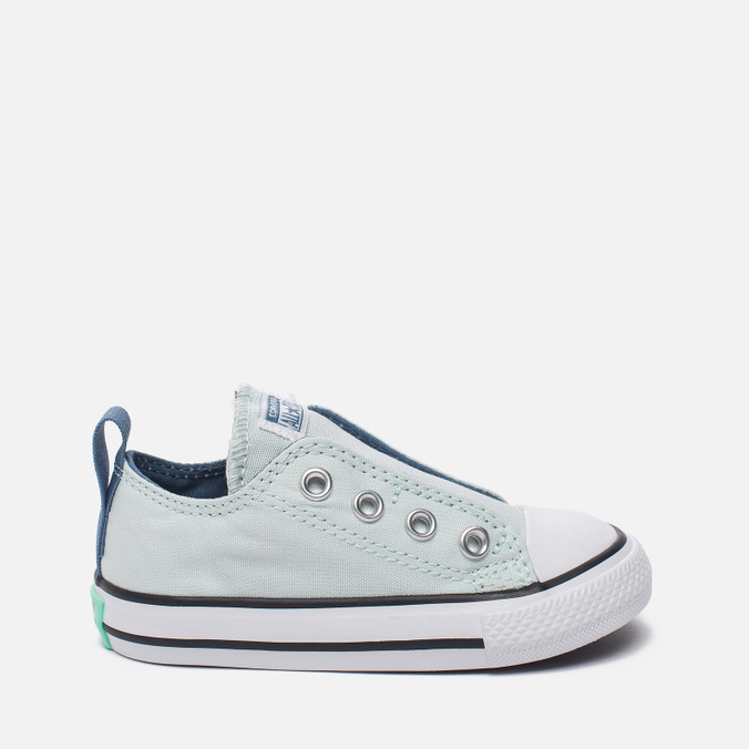 Детские кеды Converse Chuck Taylor All Star Simple Slip Low Top Fiberglass/Blue Coast/White