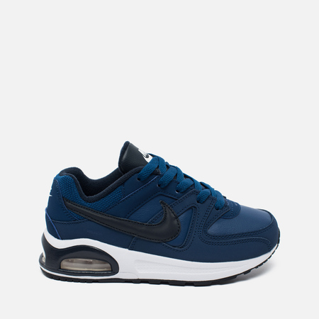 Детские кроссовки Nike Air Max Command Flex Leather Navy/White