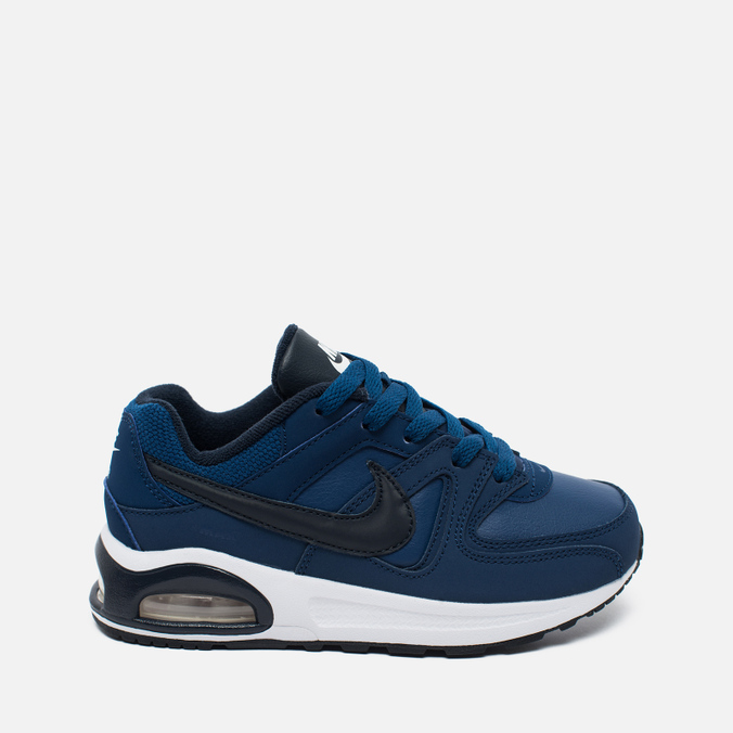 Nike Air Max Command Flex Leather Children's Sneakers Navy/White