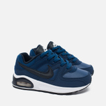 Nike Air Max Command Flex Leather Children's Sneakers Navy/White photo- 1