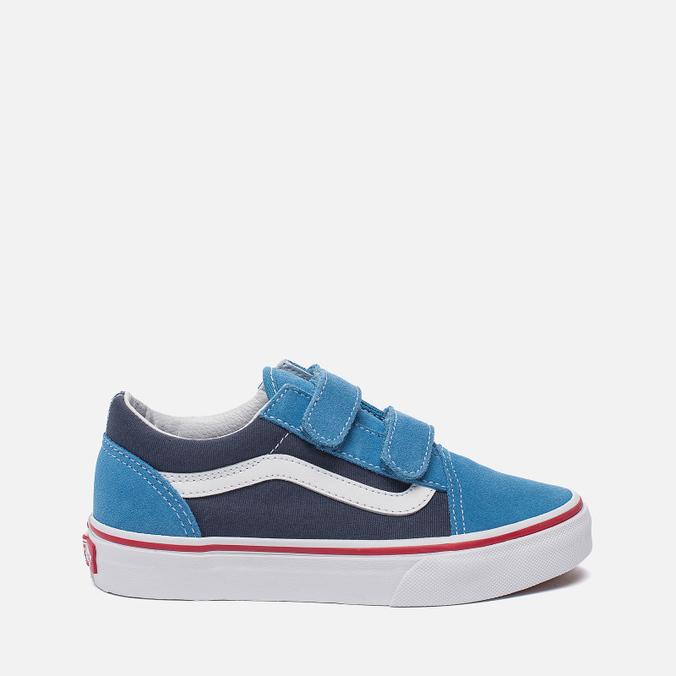 6388b4ad74571e Детские кеды Vans Old Skool V 2 Tone Cendre Blue Parisian Night ...