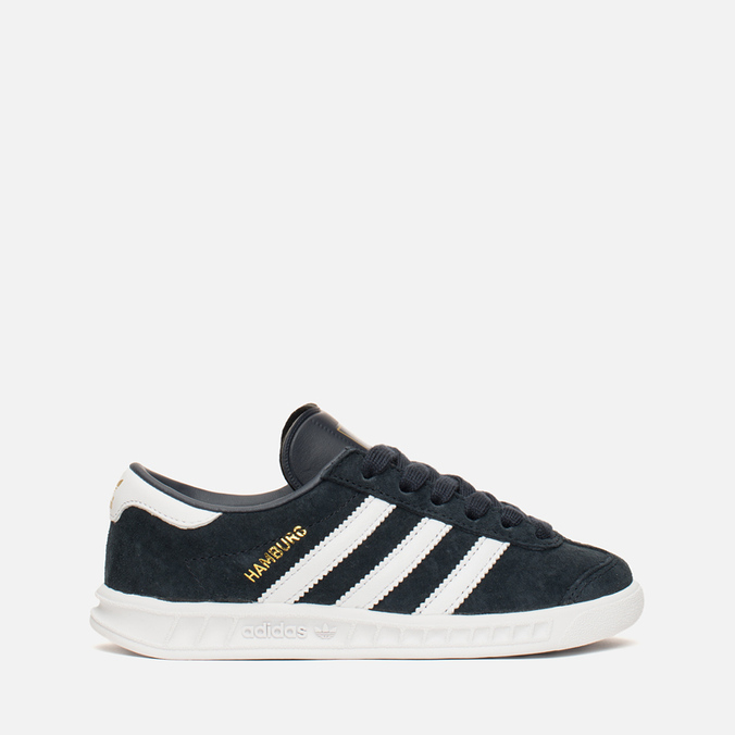 Детские кроссовки adidas Originals Hamburg Collegiate Navy/White/Gold
