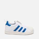 Детские кроссовки adidas Originals Superstar 360 White/Blue/White фото- 0