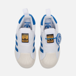 Детские кроссовки adidas Originals Superstar 360 White/Blue/White фото- 4