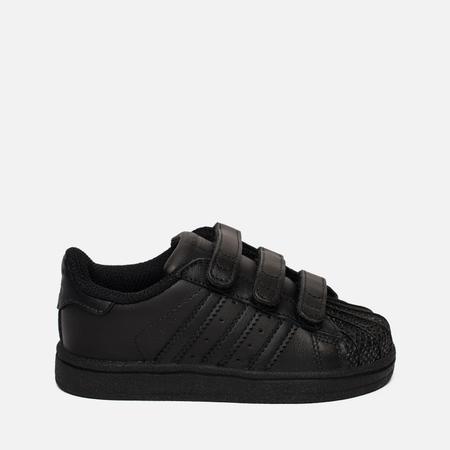 Кроссовки для малышей adidas Originals Superstar CF I Core Black/Core Black/Core Black