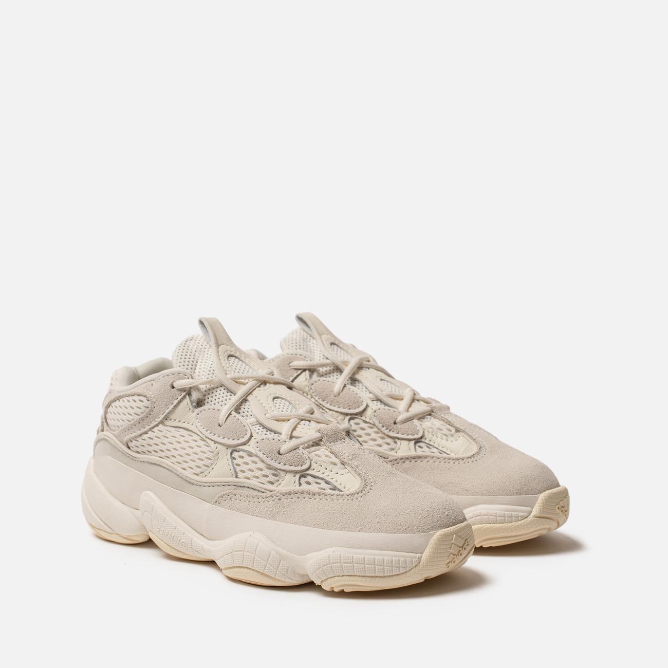 Детские кроссовки adidas Originals YEEZY 500 Kids Bone White/Bone White/Bone White
