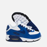 Детские кроссовки Nike Air Max 90 Leather PS White/Deep Royal Blue/Black фото- 2