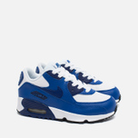 Детские кроссовки Nike Air Max 90 Leather PS White/Deep Royal Blue/Black фото- 1