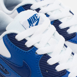 Детские кроссовки Nike Air Max 90 Leather PS White/Deep Royal Blue/Black фото- 5